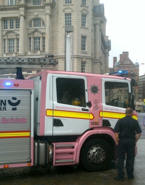 Merseyside Fire and Rescue Service 4th August 2012 photo 16 pink fire engine