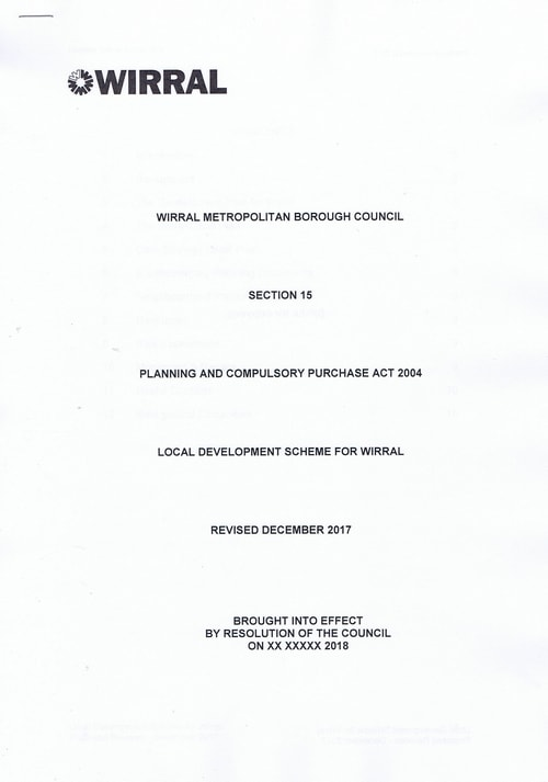 email Cllr Phil Davies Rt Hon Sajid Javid MP Local Plan 31st January 2018 attachment Local Development Scheme draft page 1 of 15