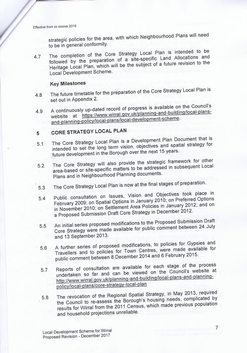 email Cllr Phil Davies Rt Hon Sajid Javid MP Local Plan 31st January 2018 attachment Local Development Scheme draft page 7 of 15