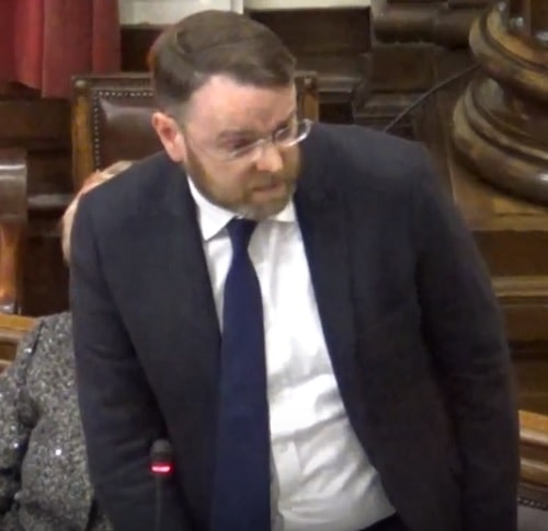 Councillor Ian Lewis (Leader of Conservative Group) Wirral Council (Council, 11th December 2017) who proposed the Conservative Budget Objection