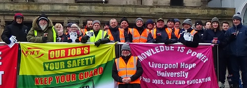 RMT strike 3rd March 2018 Merseyrail Northern Rail strike Liverpool Lime Street