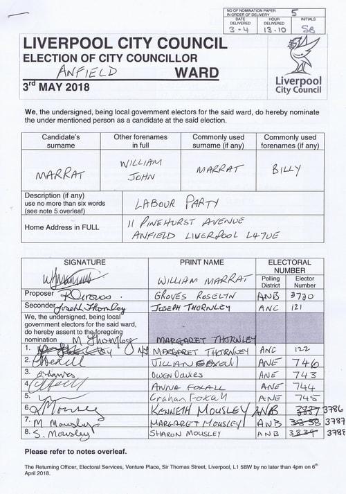 11 Anfield Marrat William John NOM 2018 Liverpool City Council