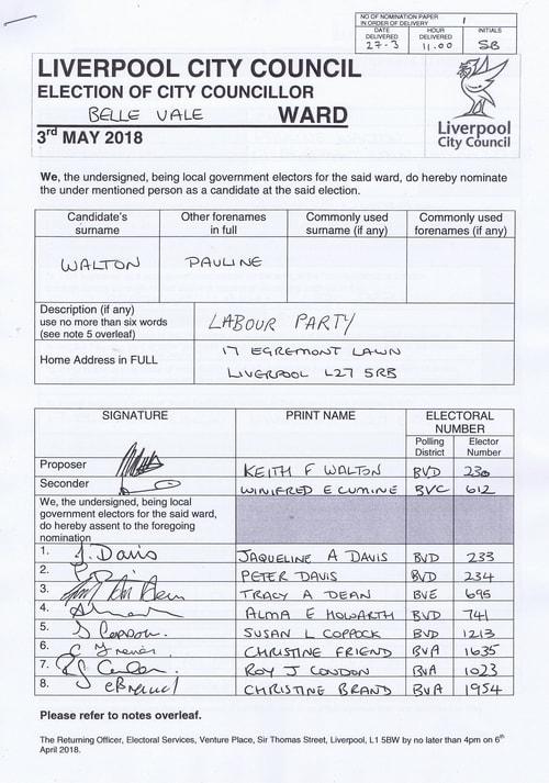 27 Belle Vale Walton Pauline NOM 2018 Liverpool City Council