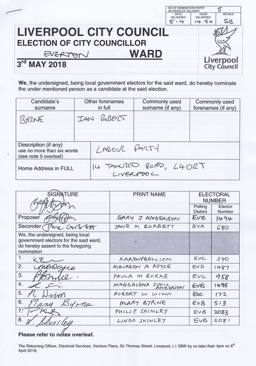 101 Everton Byrne Ian Robert NOM 2018 Liverpool City Council