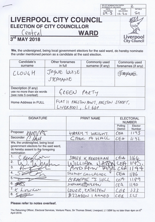 31 Central Clough Jayne Louise NOM 2018 Liverpool City Council