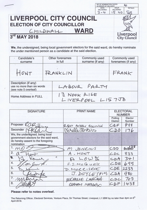 41 Childwall Hont Franklin NOM 2018 Liverpool City Council