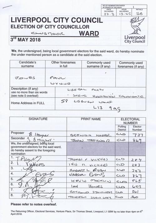 49 Clubmoor Jones Paul Wynne NOM 2018 Liverpool City Council