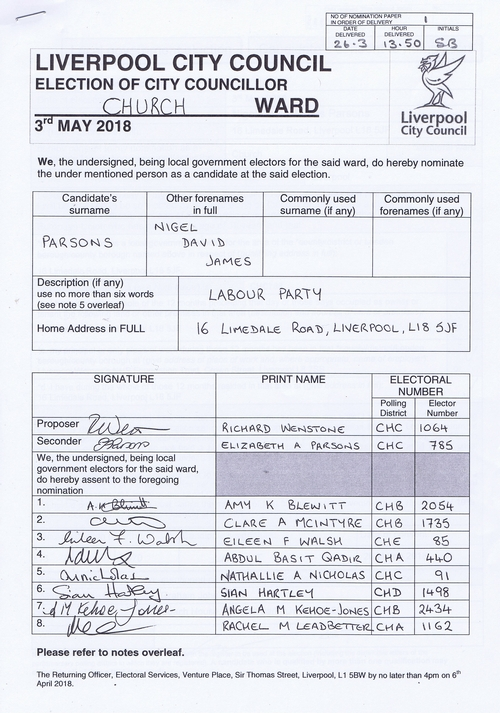 59 Church Parsons Nigel David James NOM 2018 Liverpool City Council