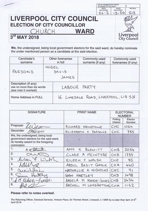 59 Church Parsons Nigel David James NOM 2018 Liverpool City Council