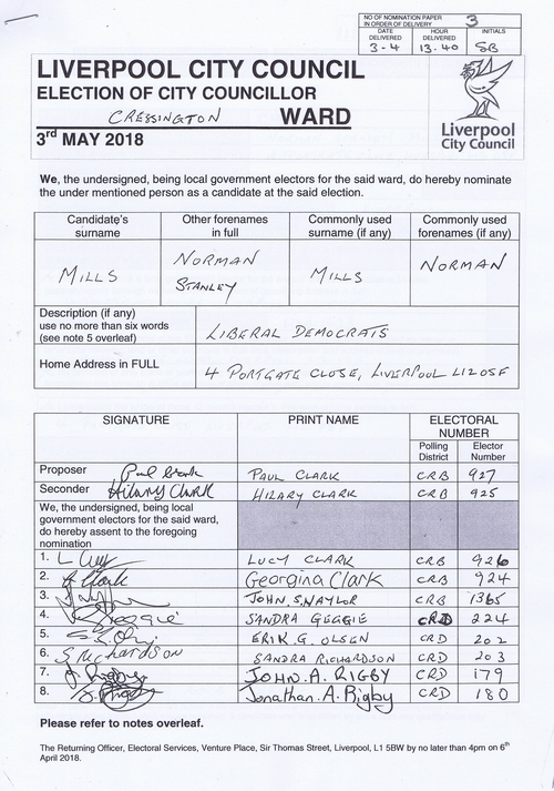 79 Cressington Mills Norman Stanley NOM 2018 Liverpool City Council