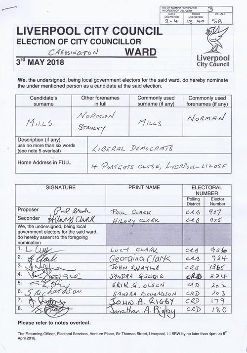 79 Cressington Mills Norman Stanley NOM 2018 Liverpool City Council