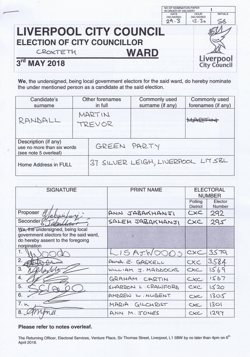 83 Croxteth Randall Martin Trevor NOM 2018 Liverpool City Council