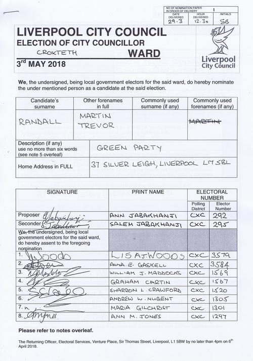 83 Croxteth Randall Martin Trevor NOM 2018 Liverpool City Council