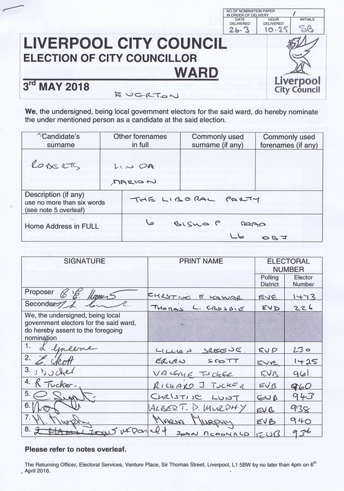 93 Everton Roberts Linda Marion NOM 2018 Liverpool City Council