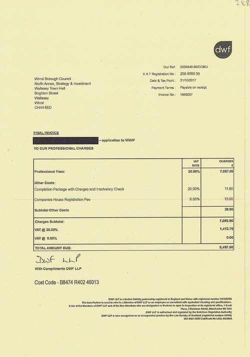 28 DWF Wirral Waters Investment Fund £8,497.56