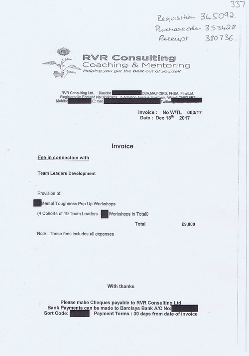 38 RVR Consulting Coaching and Mentoring £9800