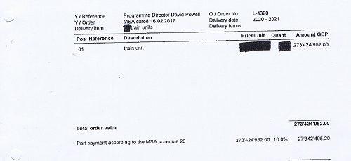 Stadler invoice Merseytravel 22nd February 2017