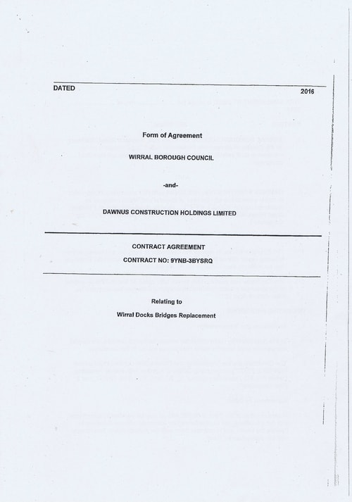 Wirral Borough Council Dawnus Construction Holdings Ltd Wirral Dock Bridges Replacement contract page 1 of 147