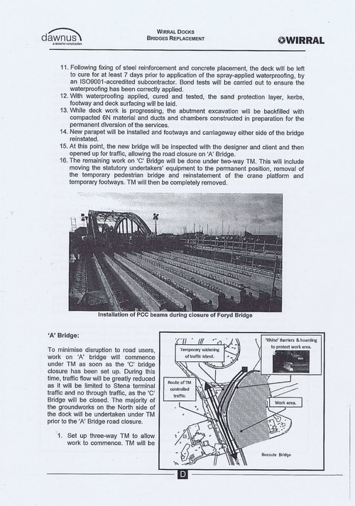 Wirral Borough Council Dawnus Construction Holdings Ltd Wirral Dock Bridges Replacement contract page 100 of 147