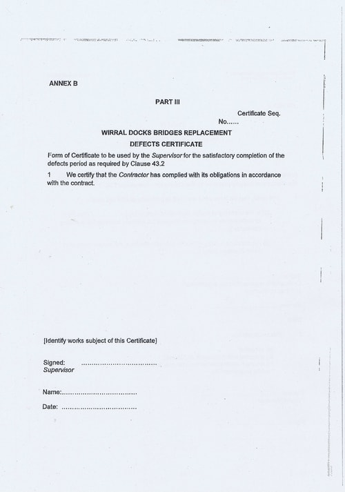 Wirral Borough Council Dawnus Construction Holdings Ltd Wirral Dock Bridges Replacement contract page 31 of 147