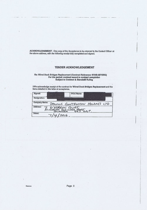 Wirral Borough Council Dawnus Construction Holdings Ltd Wirral Dock Bridges Replacement contract page 56 of 147