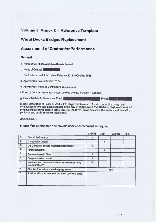 Wirral Borough Council Dawnus Construction Holdings Ltd Wirral Dock Bridges Replacement contract page 85 of 147