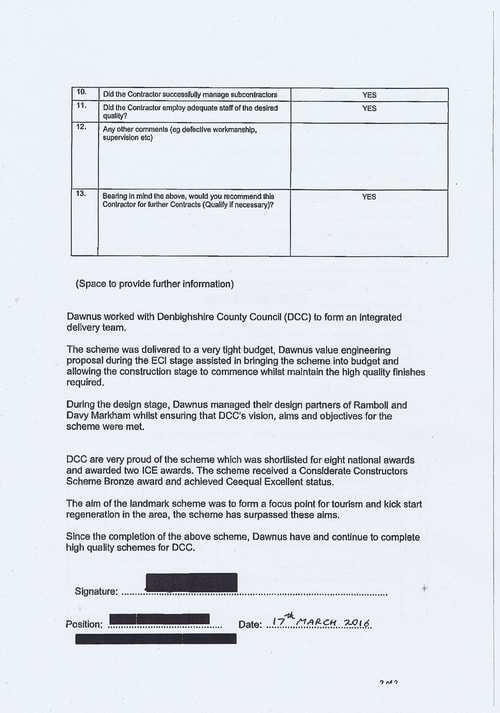 Wirral Borough Council Dawnus Construction Holdings Ltd Wirral Dock Bridges Replacement contract page 86 of 147