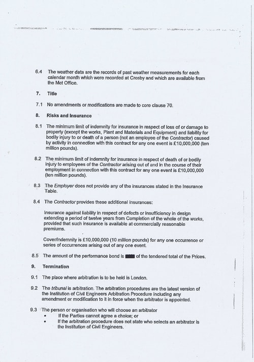 Wirral Borough Council Dawnus Construction Holdings Ltd Wirral Dock Bridges Replacement contract page 9 of 147