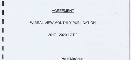 What's in the 40 page contract to distribute Wirral Council's controversial Wirral View newspaper?