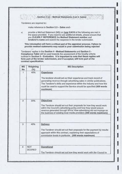 Wirral Council Smart Distribution Solutions Ltd Wirral View distribution contract page 16 of 40