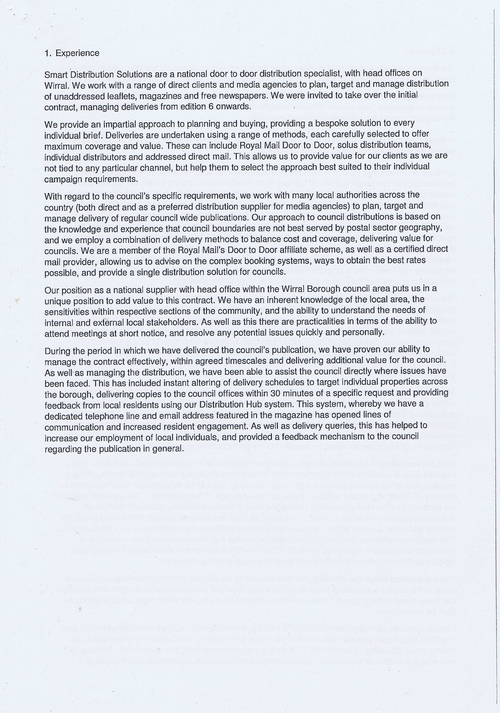 Wirral Council Smart Distribution Solutions Ltd Wirral View distribution contract page 35 of 40
