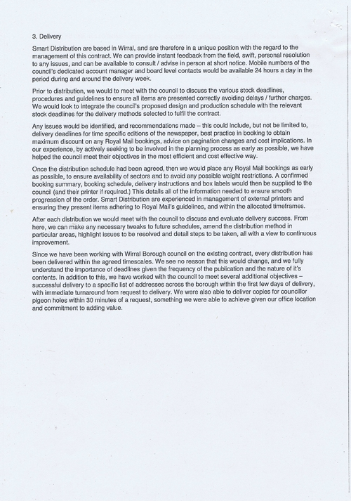 Wirral Council Smart Distribution Solutions Ltd Wirral View distribution contract page 38 of 40