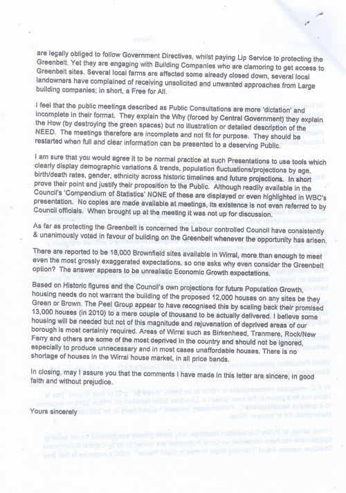 14 Defend Wirral's Green Spaces leaflet page 11 of 11
