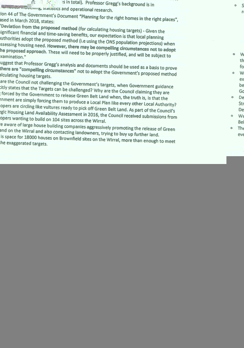 4 Defend Wirral's Green Spaces leaflet page 1 of 11