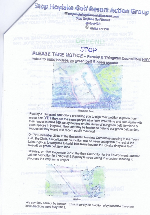 6 Defend Wirral's Green Spaces leaflet page 3 of 11