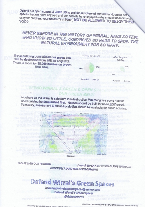 7 Defend Wirral's Green Spaces leaflet page 4 of 11