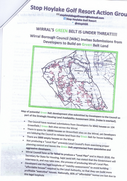 9 Defend Wirral's Green Spaces leaflet page 6 of 11