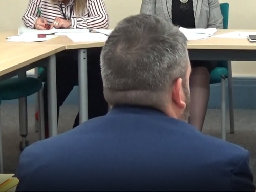 Standards Panel (Wirral Council) 9th October 2018 Cllr Paul Hayes (foreground)