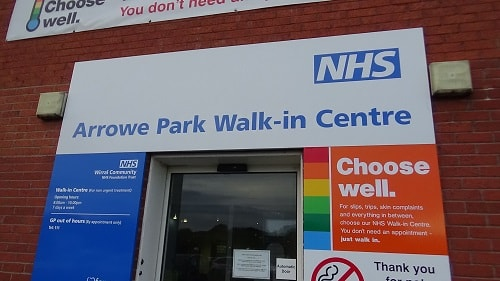 Arrowe Park Walk In Centre 8th November 2018