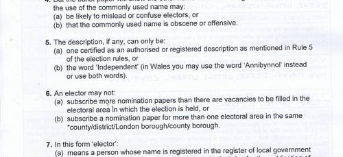 What's in the nomination papers of the 4 candidates in the Upton byelection of a councillor? (Wirral Council)