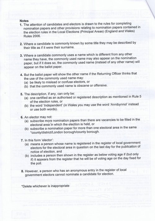 Page 3 Upton byelection Wirral Council Sellman Notes