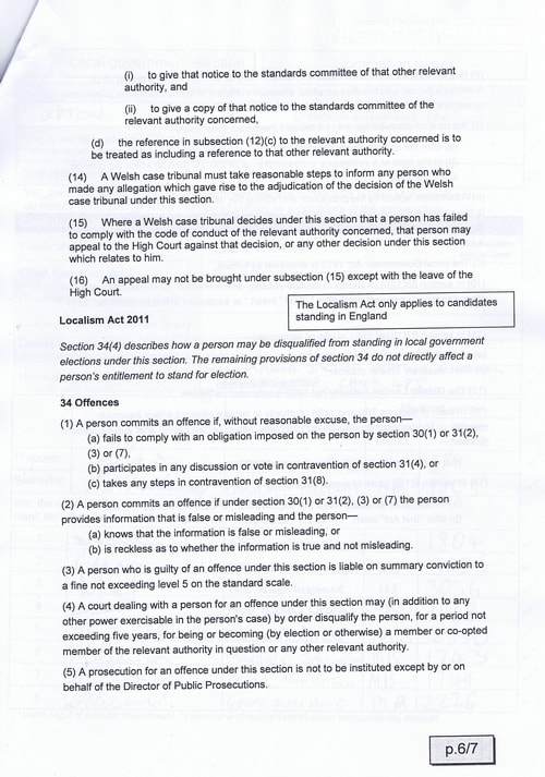 Page 8 Upton byelection Wirral Council Sellman candidates consent to nomination
