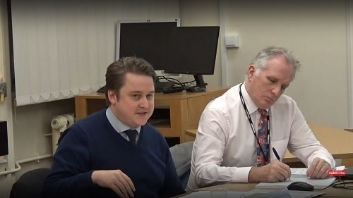 Cllr Ben Powell (left) Wirral and Cheshire West and Chester Joint Health Scrutiny Committee 11th December 2018