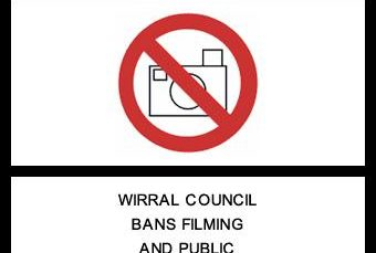 Warning Sign Ban Filming Ban Public Public Meetings