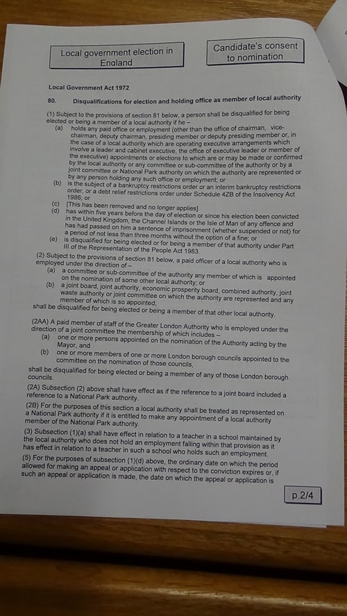 Candidate's consent to nomination Steve Hayes Green Birkenhead and Tranmere 2019 Page 2 of 4
