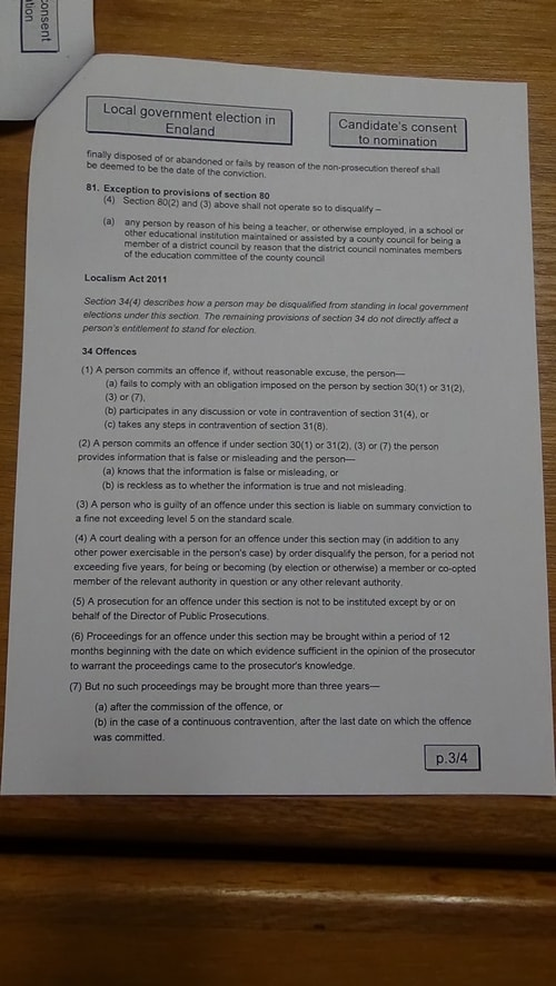 Candidate's consent to nomination Bill McGenity Labour Birkenhead and Tranmere 2019 page 3 of 4