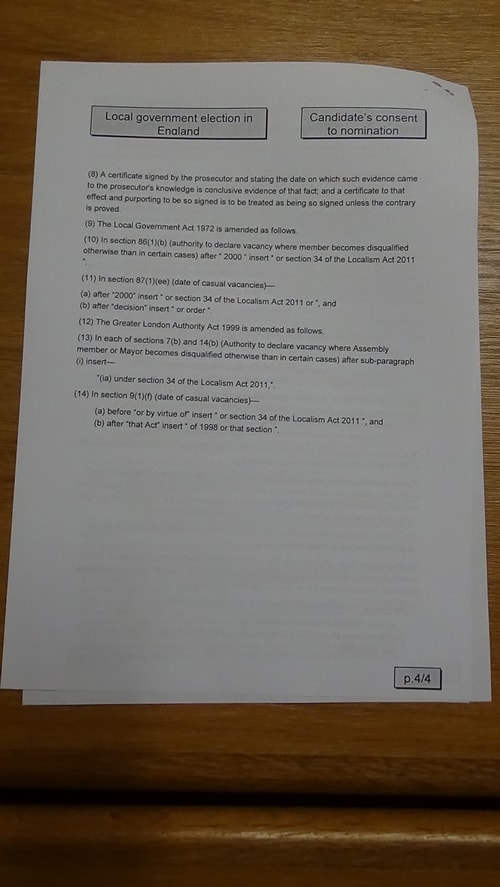 Candidate's consent to nomination Bill McGenity Labour Birkenhead and Tranmere 2019 page 4 of 4