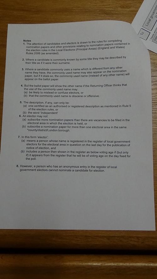 nomination paper Thomas Laing Hoylake and Meols 2019 back page