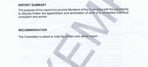 What was in the 4 page secret report to councillors about Wirral Council making payments to a company that doesn't exist?
