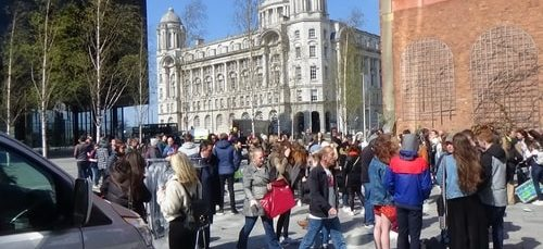 Hundreds protest about climate change and greenspaces before, during and after Liverpool City Region Combined Authority meeting